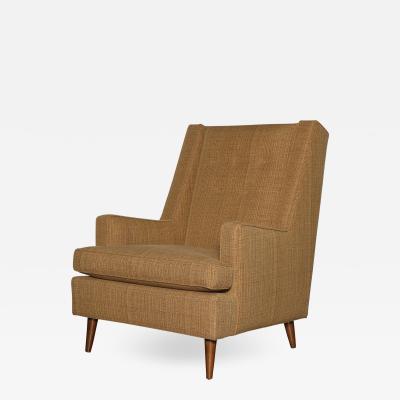 Edward Wormley Tall Back Lounge Chair by Edward Wormley for Dunbar