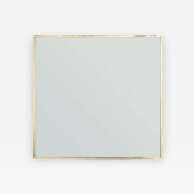 Edward Wormley Thin Edged Brass Mirror by Edward Wormley