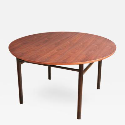 Edward Wormley Walnut Dining Table by Edward Wormley for Dunbar