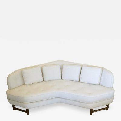 Edward Wormley Wide V Angle Sofa by Edward Wormley for Dunbar
