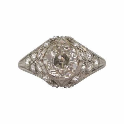 Edwardian Diamond Filigree Ring