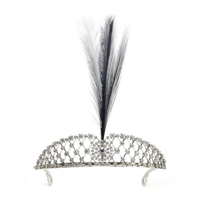 Edwardian Diamond Platinum Aigrette Feather Tiara