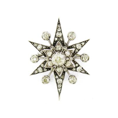 Edwardian Diamond Star Brooch