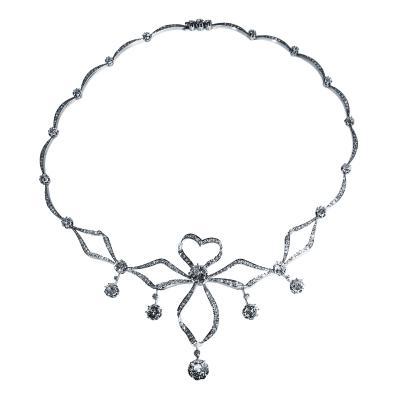 Edwardian Diamond and Platinum Necklace
