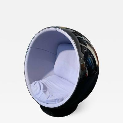 Eero Aarnio Ball Chair by Adelta Eero Aarino Black and Blue Finland