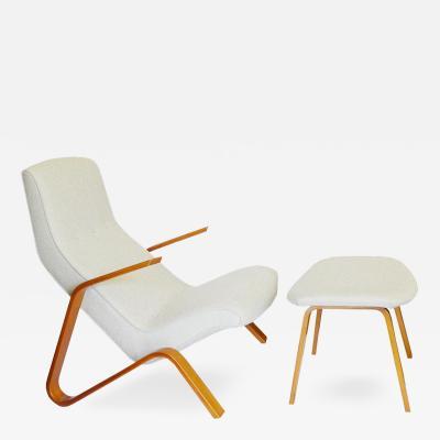Eero Saarinen Early Eero Saarinen Grasshopper Chair Ottoman Knoll Associates 1946