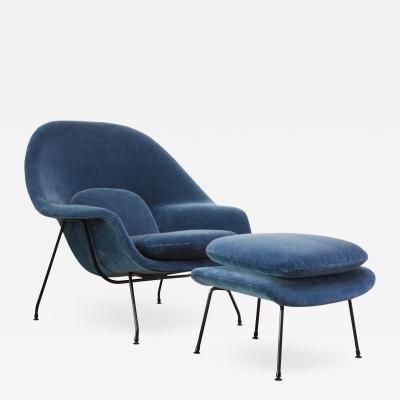Eero Saarinen Early Production Eero Saarinen for Knoll Womb Chair and Ottoman