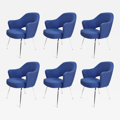 Eero Saarinen Eero Saarinen Executive Armchair in Blue Raf Simons Upholstery