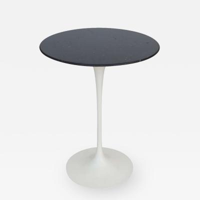 Eero Saarinen Eero Saarinen Knoll Side Table Black Carrara Marble Signed USA 1980s