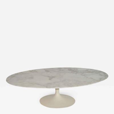 Eero Saarinen Eero Saarinen Oval Tulip Coffee Cocktail Table in Marble by Knoll