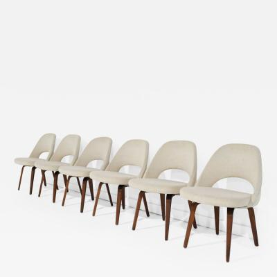 Eero Saarinen Eero Saarinen for Knoll Executive Dining Chairs in Off White