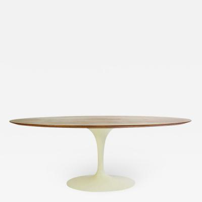 Eero Saarinen Eero Saarinen for Knoll Walnut Oval Dining Table