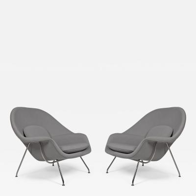Eero Saarinen Pair of Knoll Womb Chairs Designed by Eero Saarinen