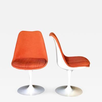 Eero Saarinen Pair of Saarinen Orange Swivel Chairs 1960s