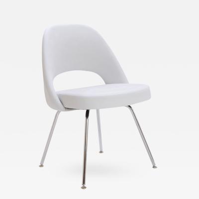 Eero Saarinen Saarinen Executive Armless Chair in Dove Luxe Suede