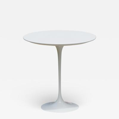 Eero Saarinen Saarinen Pedestal Tulip Side Table in White Laminate by Eero Saarinen for Knoll