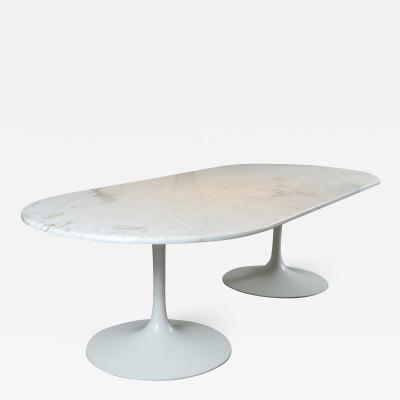 Eero Saarinen Tulip Dining Table Bases Attributed to Saarinen with Marble Top