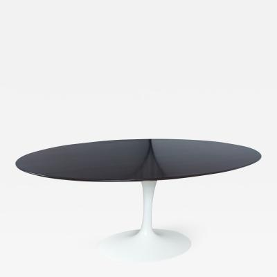 Eero Saarinen Vintage Saarinen Oval Table with Restored Walnut Top