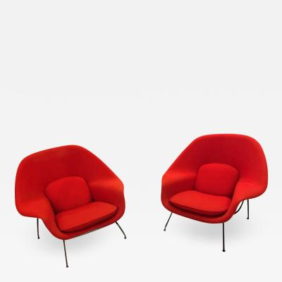 Eero Saarinen Womb chairs pair