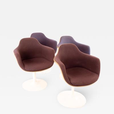 Eero Saarinen for Knoll Style Mid Century Tulip Dining Room Armchairs Set of 4