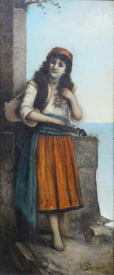 Egisto FERRONI Original Painting