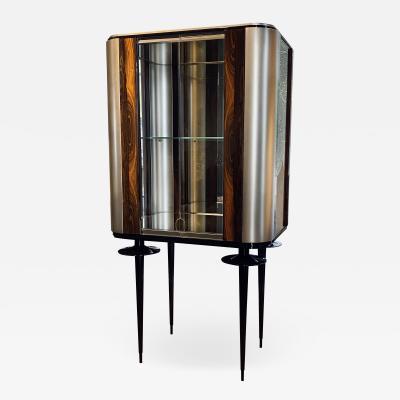 Egli Design Egle Mieliauskiene Silver crane Glass display cabinet
