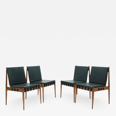 Egon Eiermann Egon Eiermann SE 121 Dining Room Chairs in Dark Stained Beechwood 1960s