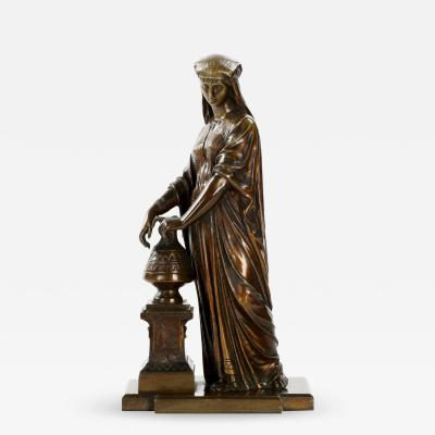 Egyptian Revival Bronze Sculpture of a Woman France c 1880