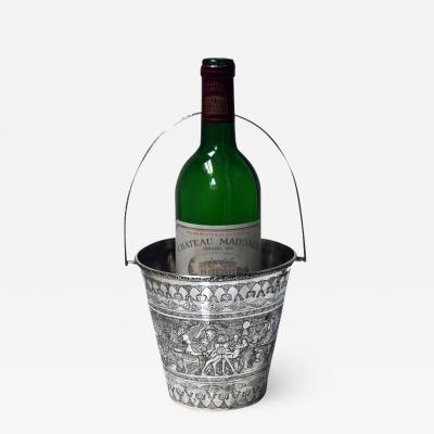 Egyptian solid Silver wine bucket circa 1920