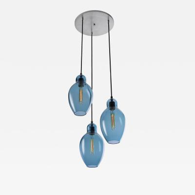 Eidos Glass Cloches Triple Chandelier