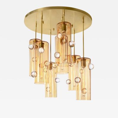 Eidos Glass Obscura Cascading Chandelier