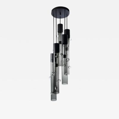 Eidos Glass Obscura Grand Cascading Chandelier