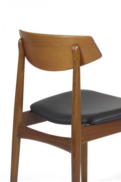 Eight Danish Teak Dining Chairs