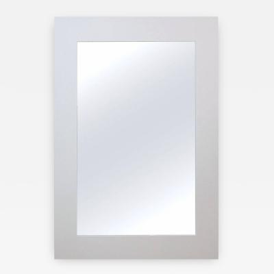 Eight Foot Floor Standing Mirror with White Lacquered Frame