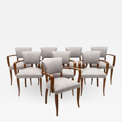 Eight French Art Deco Bridge Chairs
