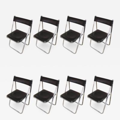 Eight Italian Tamara Folding Chairs