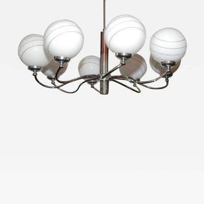 Eight Light Chrome Chandelier