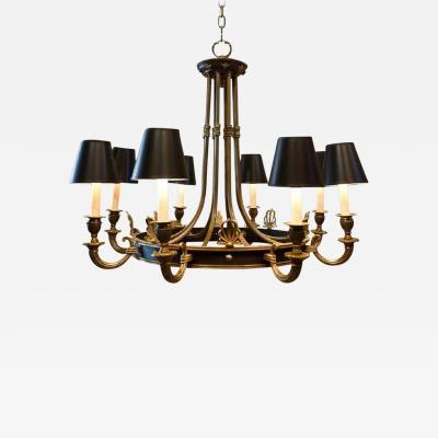 Eight Light Maison Jansen Empire Style Chandelier