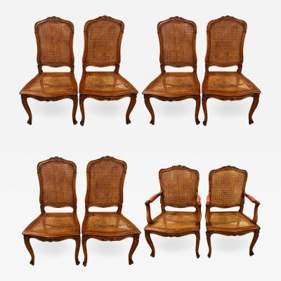 Eight Louis XV Style Country French Dining Chairs Conference Chairs