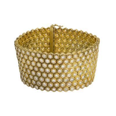 Eight row flexible diamond bracelet