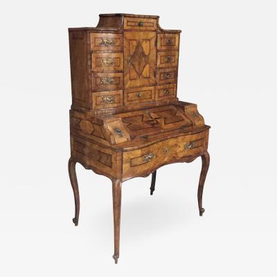 Eighteenth Century German Baroque Walnut Desk