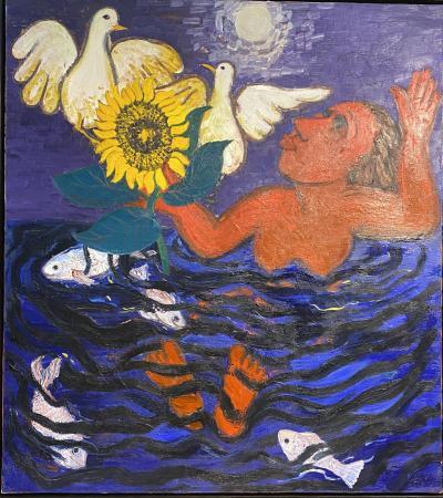 Eileen Cooper Eileen Cooper OBE RA b 1953 Oil on canvas SURFACING