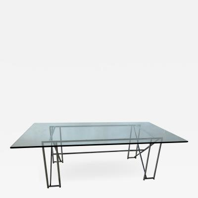 Eileen Gray An American Modern Polished Chrome and Glass X form Table