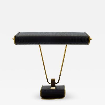 Eileen Gray Art deco chromed iron desk lamp black lacquered