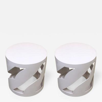 Eileen Gray Contemporary Round Side tables in the style of Eileen Gray