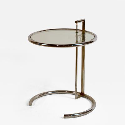 Eileen Gray Eileen Gray Chrome and Glass Round Side Table