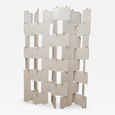 Eileen Gray Rare White Lacquer Brick Screen by Eileen Gray