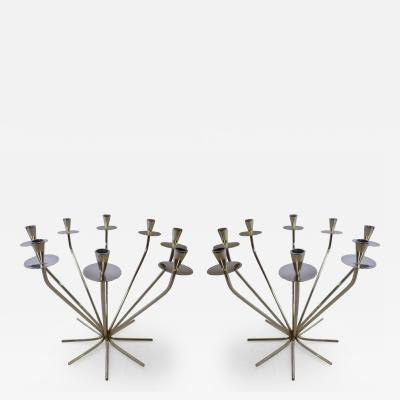 Einar Dragsted Pair of 1950s Einar Dragsted Modernist Candleholders Denmark