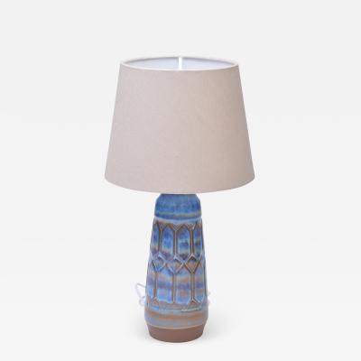 Einar Johansen Mid Century Modern blue and grey Harlequin lamp by Einar Johansen for Soholm