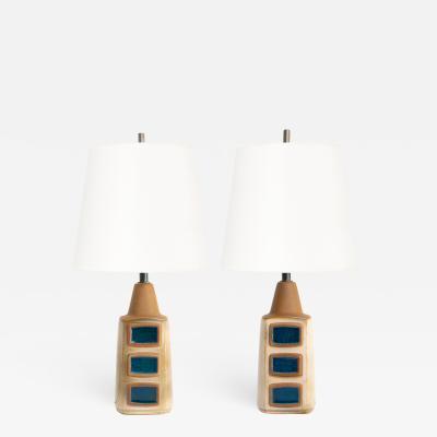 Einar Johansen Pair of Scandinavian Modern ceramic lamps by Einar Johansen for Soholm Denmark